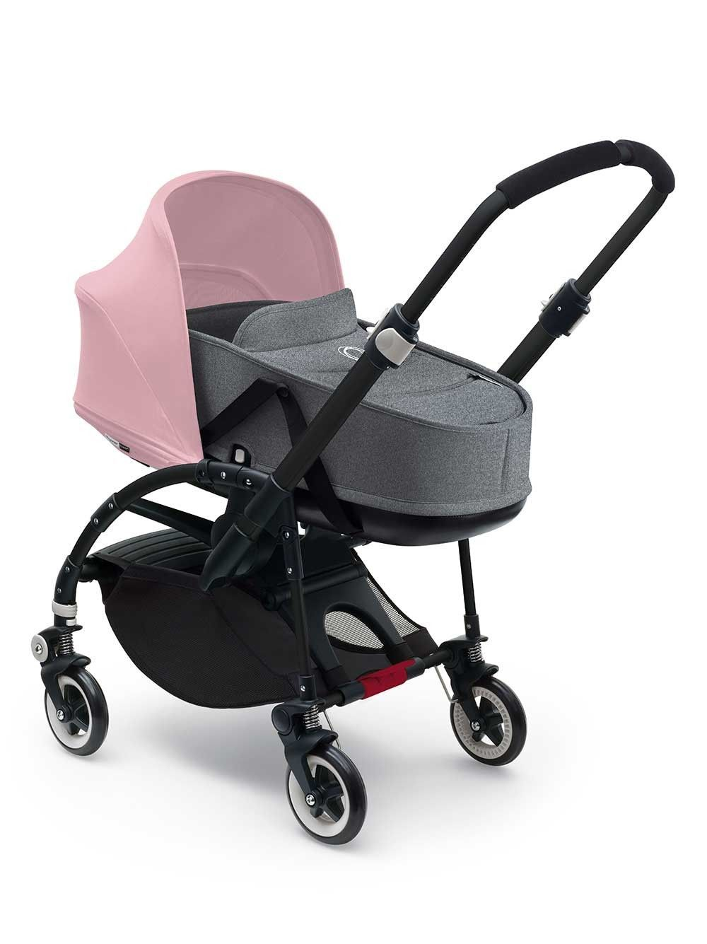 New Bugaboo Bee3 with soft pink sun canopy and grey baby bassinet. Love it! 6d9323fd8e