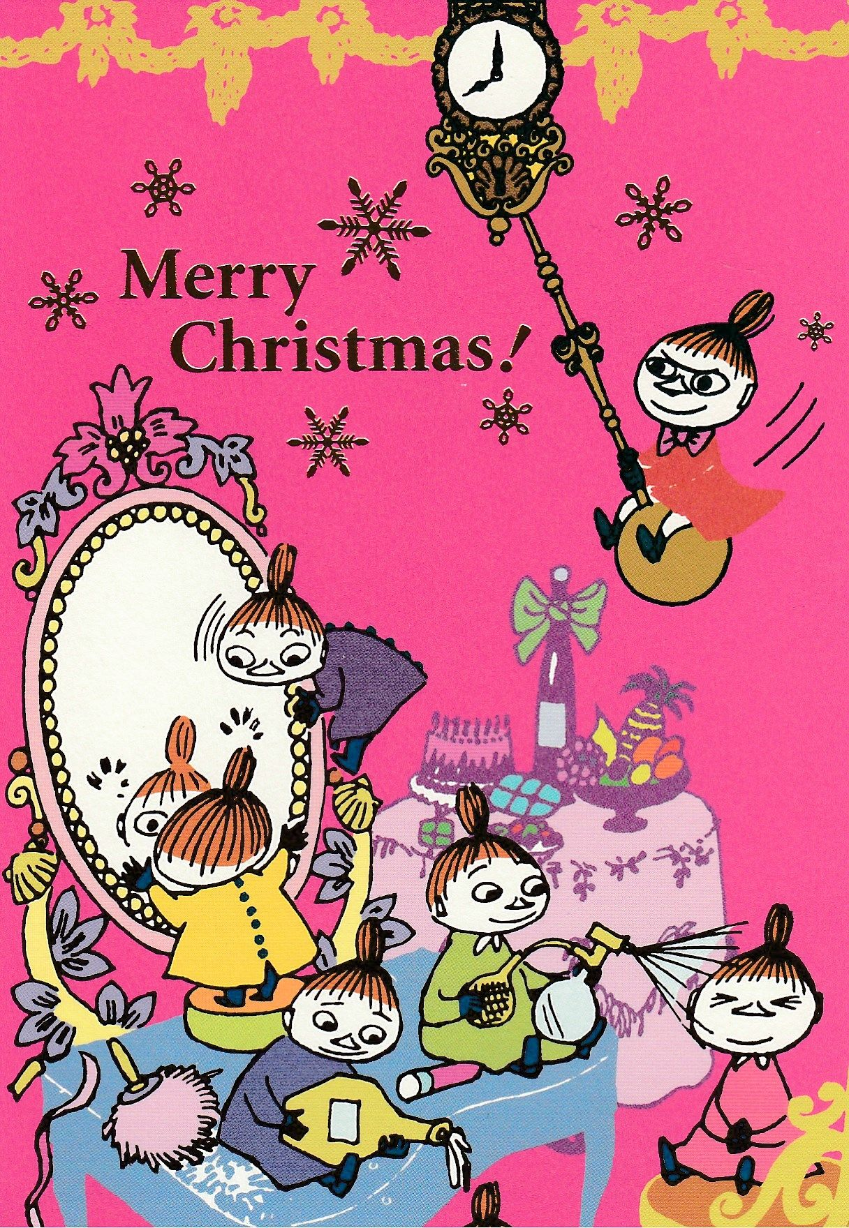 Merry Christmas From The Moomins ムーミン 壁紙 リトルミイ 画像