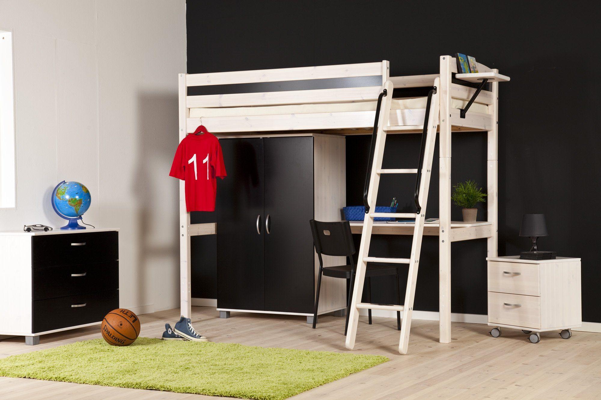 Hoogslaper Met Kast En Bureau Ikea : Hoogslaper met kast en bureau doorbouwbedden