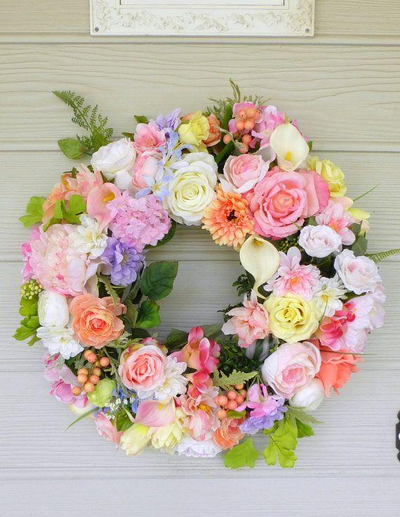 Summer Floral Wreath Summer Wreath