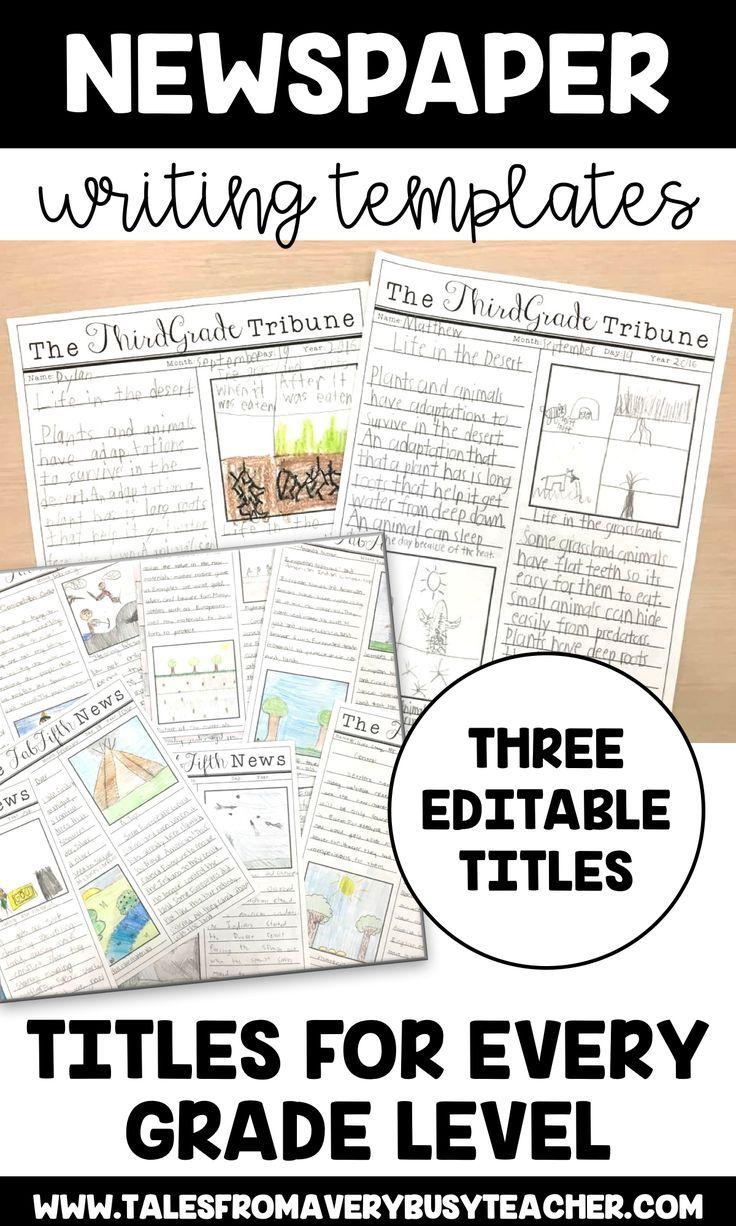 Newspaper Templates Editable Titles Newspaper Template