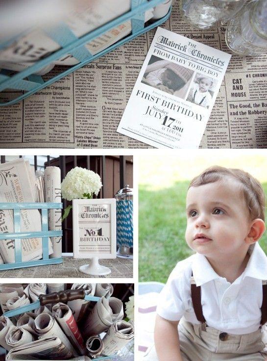 Mavricks Vintage Newspaper Boy Birthday Vintage newspaper