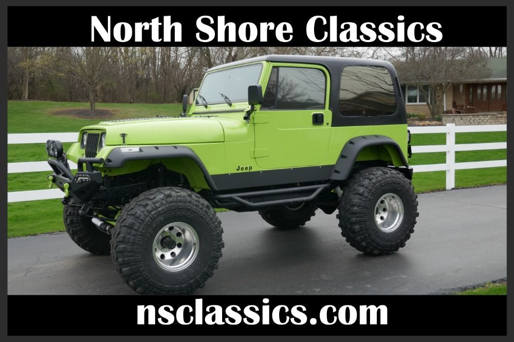 Used 1993 Jeep Wrangler 4x4 Yj Grave Digger Jr Lifted Big Little Truck See Video Mundelein Il Jeep Wrangler Jeep Little Truck