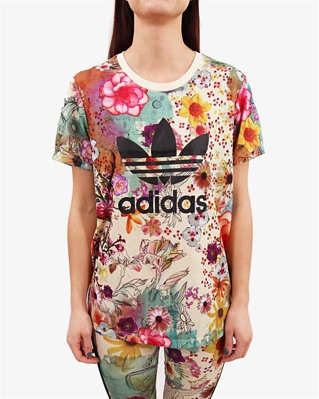 camiseta adidas originals mujer negra