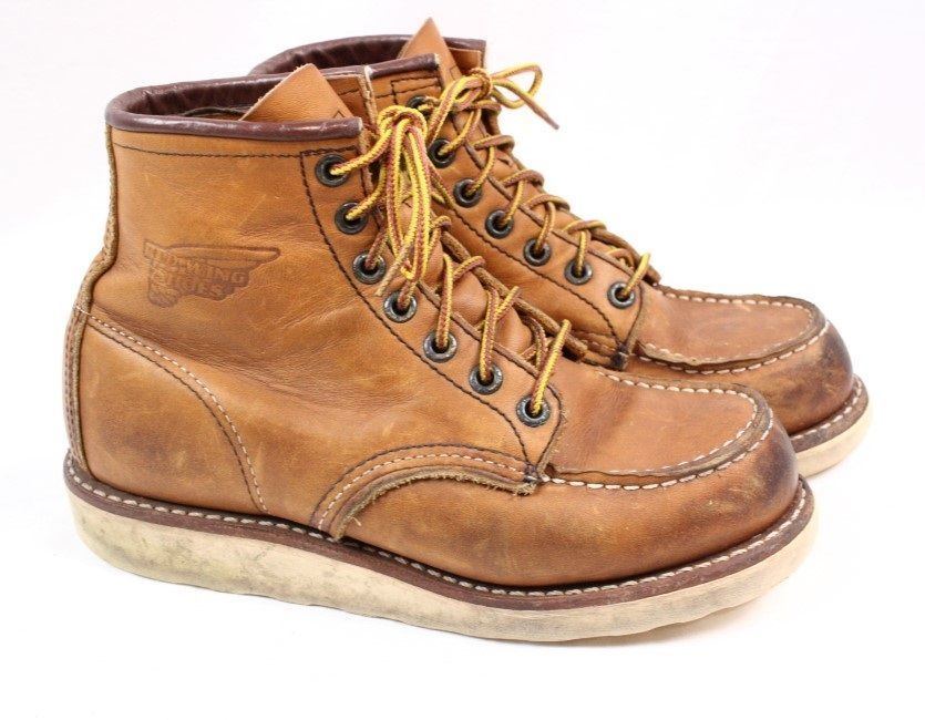 9ee4a937283 RED WING 875 Classic Moc Brown Leather Lace up Ankle Work Boots Men ...