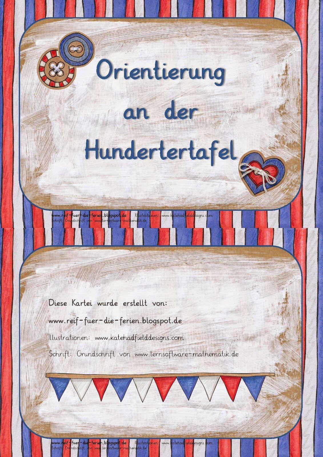 Orientierung an der Hundertertafel | Mathe 2 & Montessori ...