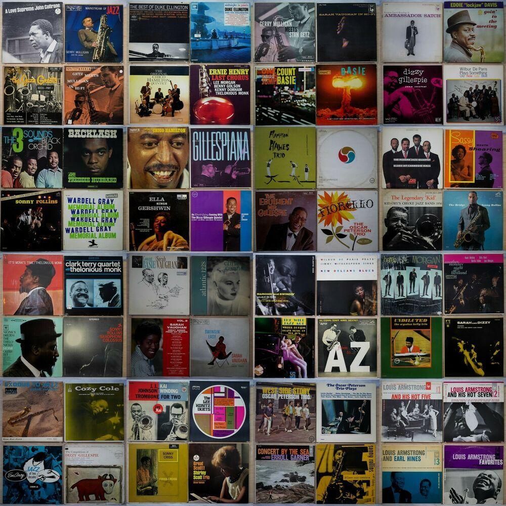 LOT OF 64 JAZZ LP Verve, Blue Note, Prestige, Roulette