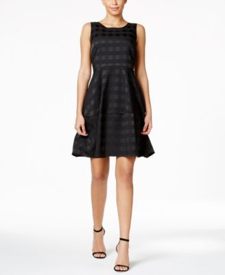 TOMMY HILFIGER Tommy Hilfiger Plaid Fit & Flare Dress. #tommyhilfiger #cloth # dresses