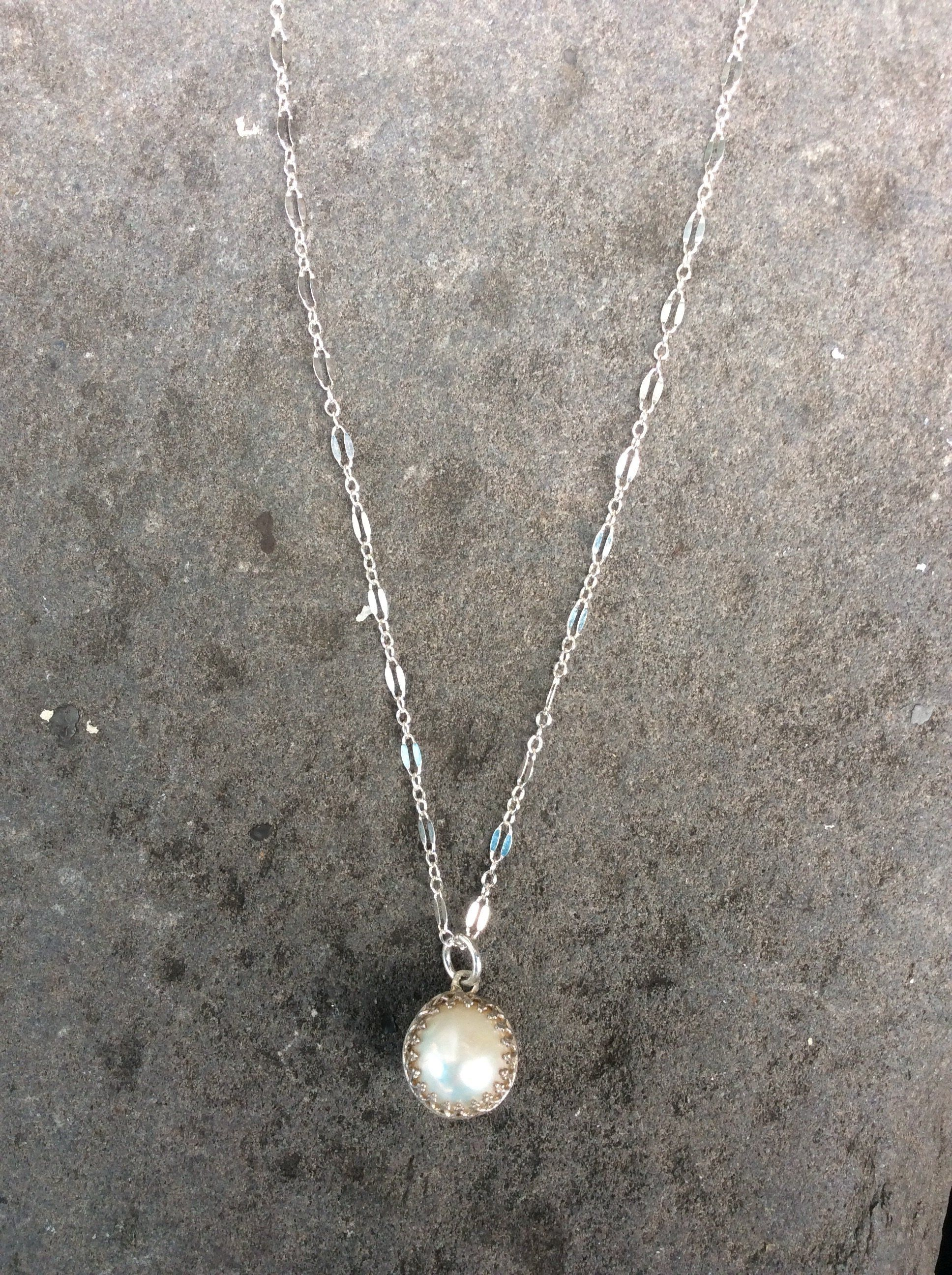 Sterling silver crown set akoya pearl necklace jewelz pinterest
