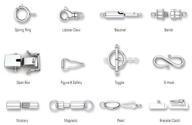 types of jewelry clasps jewelry 101 types of clasps what is it called 9081