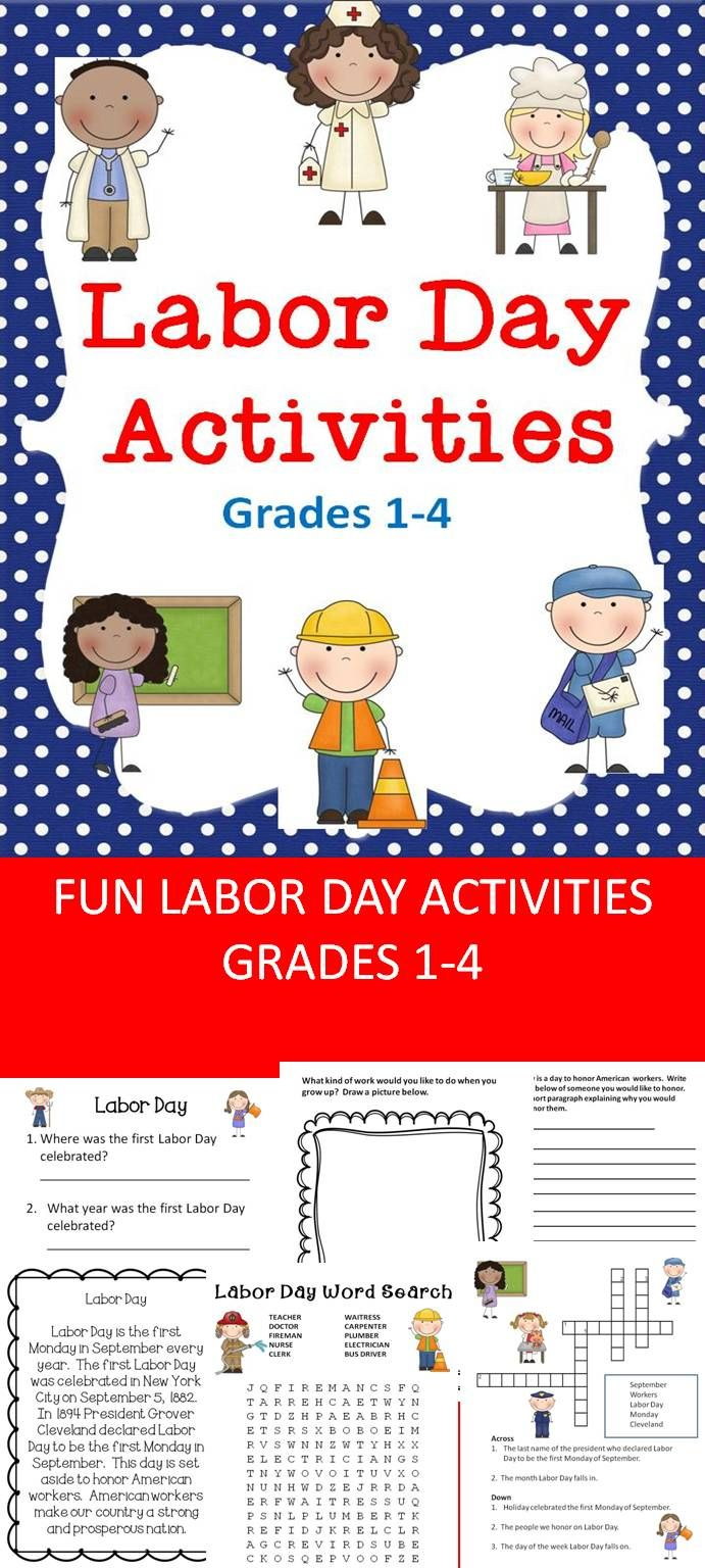 Labor Day Activities Pre K 8 Hot Off The Presses Latest Tpt