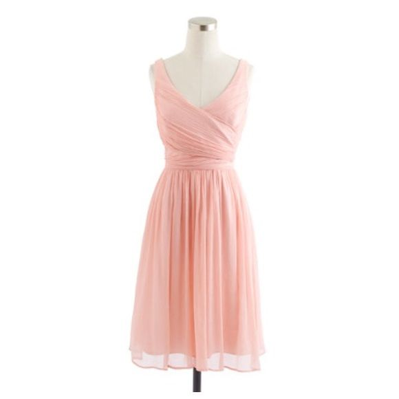 J.Crew Heidi Bridesmaid Dress in Misty Rose Size 6 Only worn once!! Dry-cleaned and ready to wear for your next wedding! Like new! Flattering style. And not full price! J. Crew Dresses