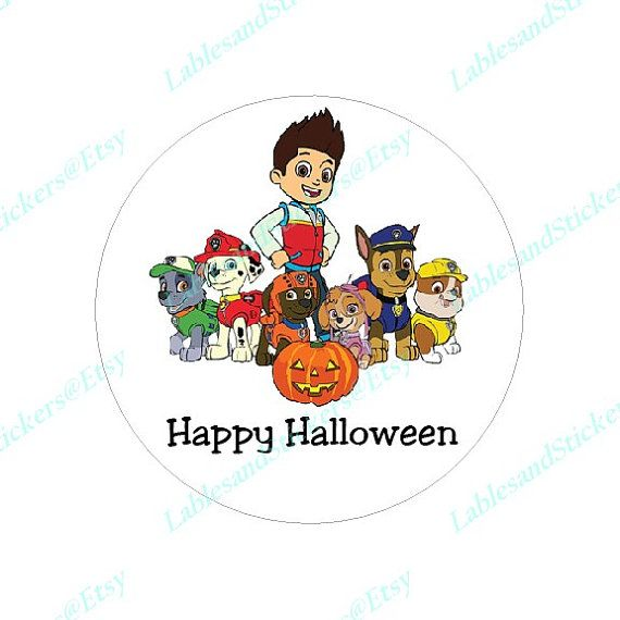 Paw Patrol Happy Halloween Trick or Treat by LabelsandStickers
