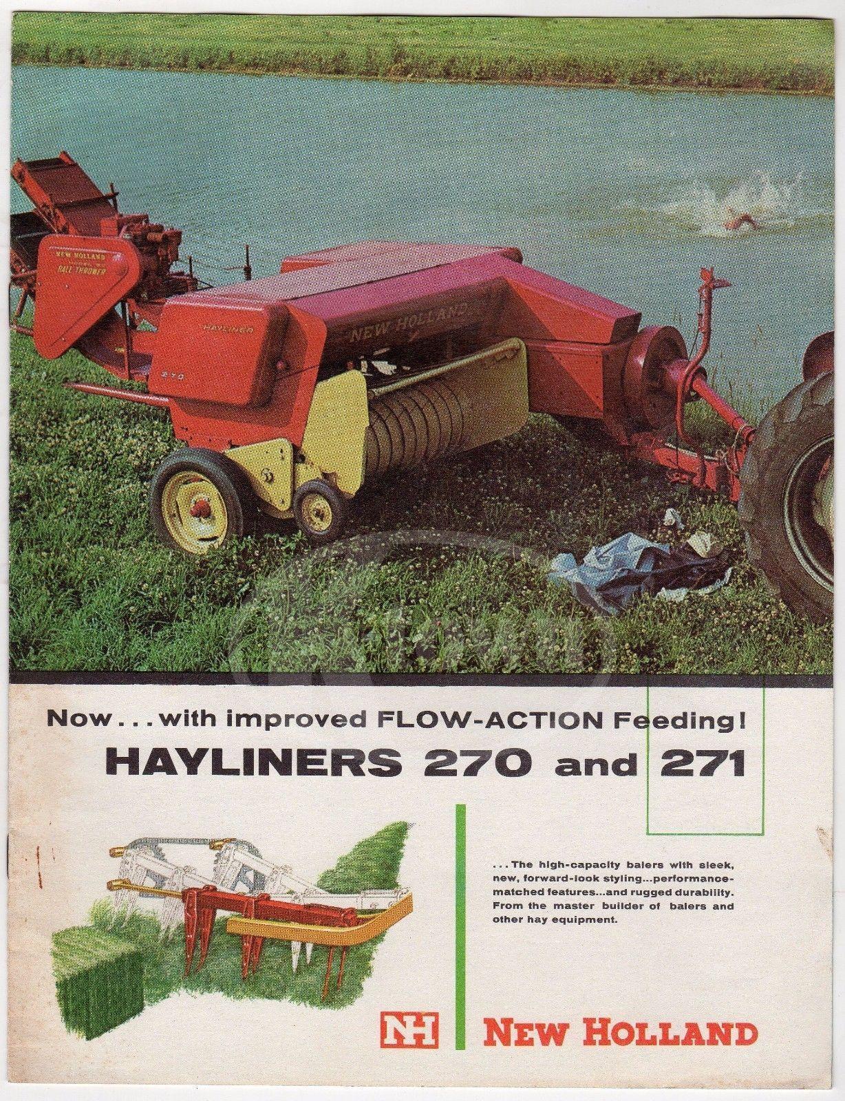 New holland farm machinery hayliner 270 271 vintage graphic