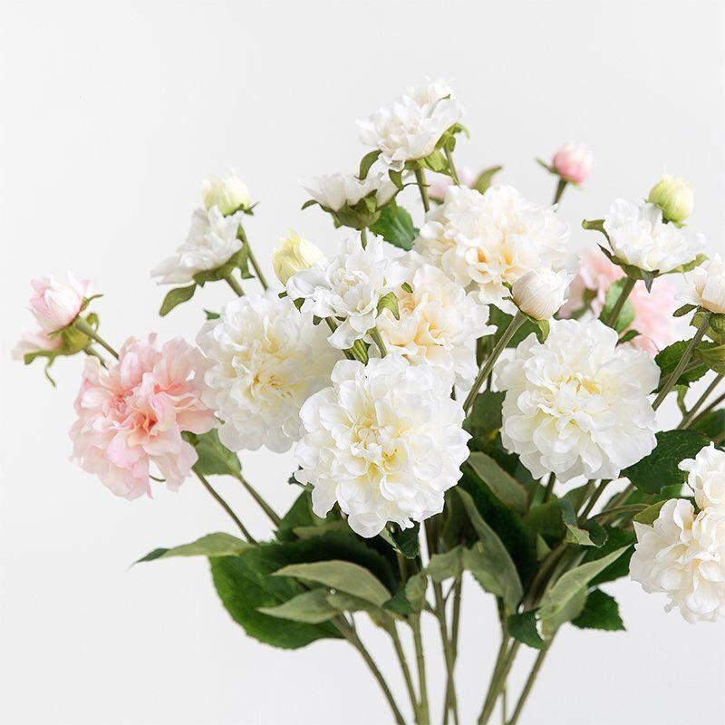 Silk Flower Artificial Camellia Flower Stem 24 Tall Modern Design In 2020 Artificial Flowers Hydrangea Not Blooming Fake Flowers