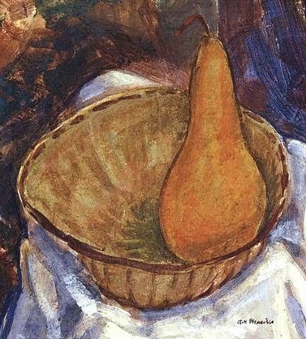 Bowl with Pear, Alfred Henry Maurer