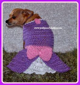 Posh Pooch Designs Dog Clothes: New Release - The Sofia Dog Dress Crochet Pattern | Posh Pooch Designs