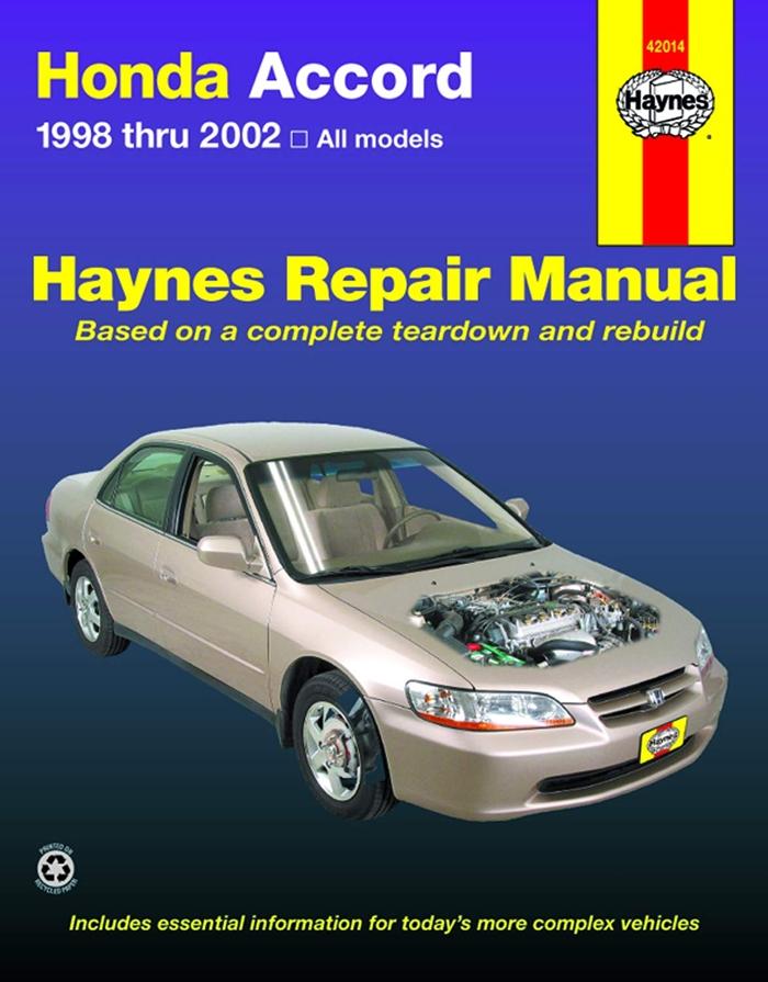 Honda Accord 1998 Thru 2002 Haynes Repair Manual All Models By Jay Storer Haynes Manuals N America Inc Honda Accord Repair Manuals Honda