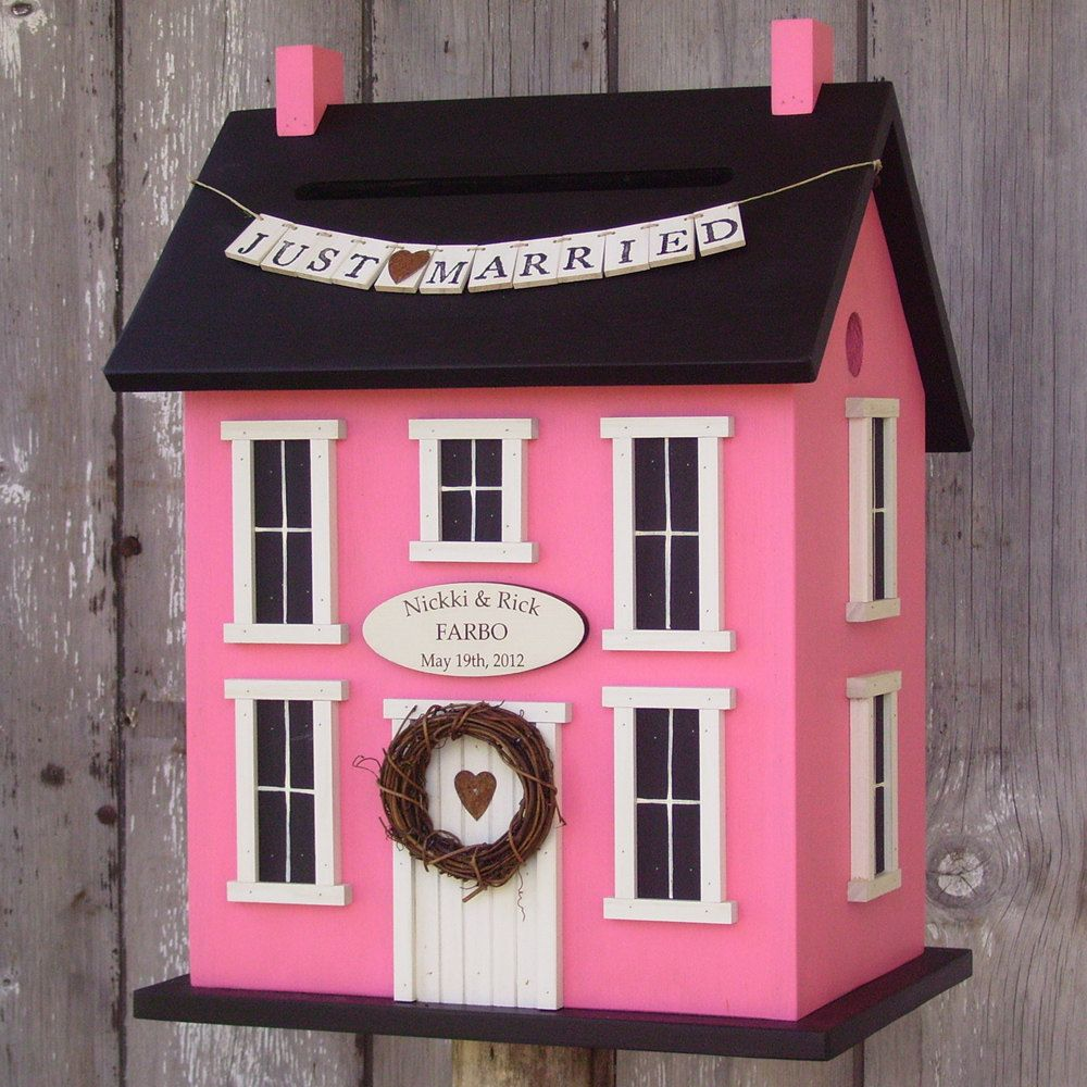 Original -Wedding Card Box Birdhouse Personalized - Choose your ...