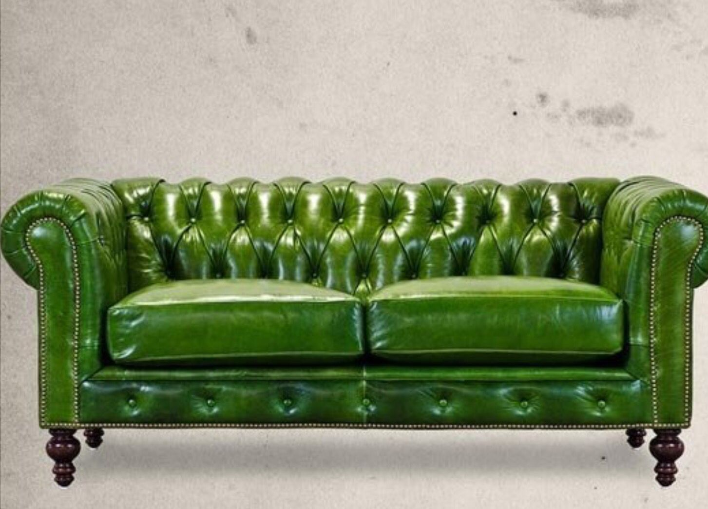 Apple Green Chesterfield Sofa Interior Design Furniture Objects D 39 Art Lamps And Fabrics