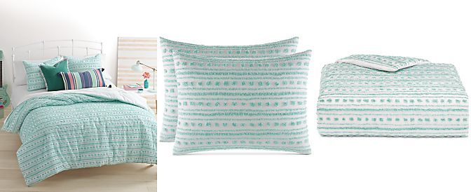 CLOSEOUT! Whim by Martha Stewart Collection On the Dot Seafoam Bedding Collection, Only at Macy's