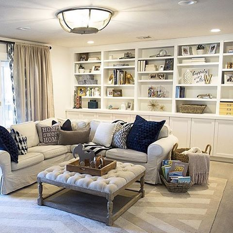 """""""How cozy and awesome is this family room designed by the very talented @lifestyledco ?!!! """""""