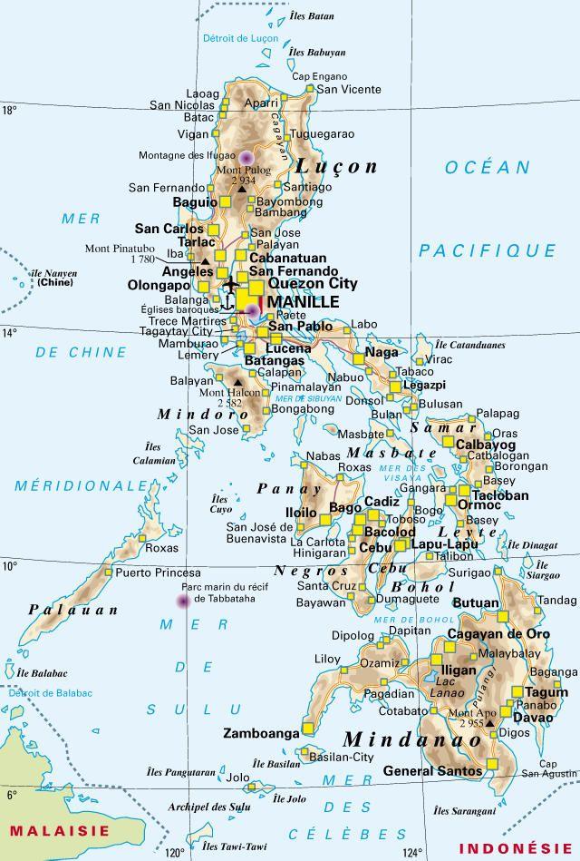 Resultat De Recherche D Images Pour Carte Philippines Detaillee