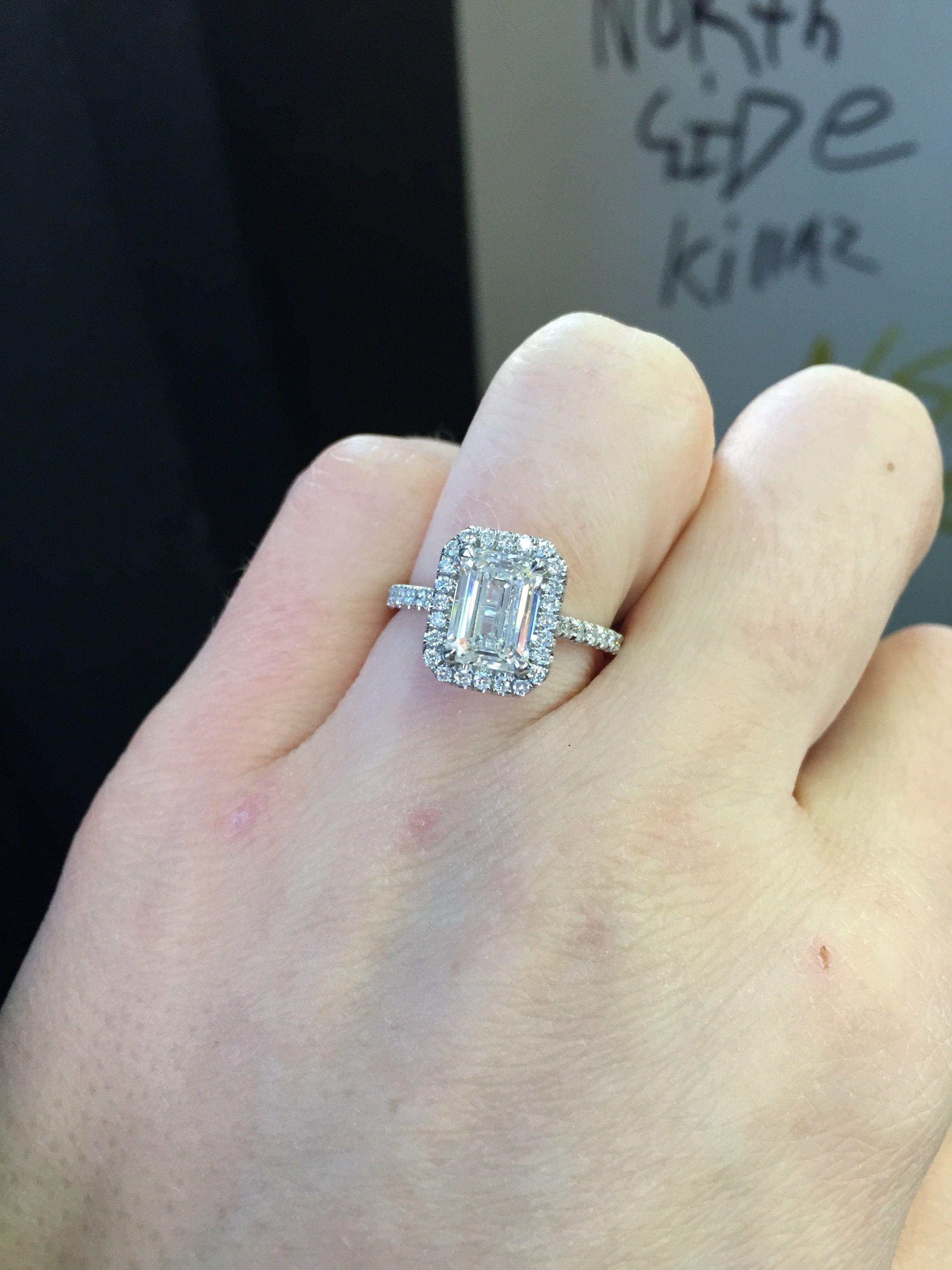 15ct center size 5 finger emerald pinterest