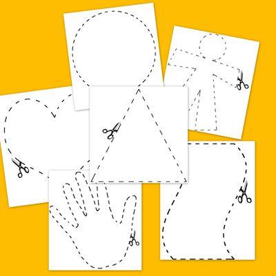 Ateliers de manipulation type montessori d coupage les series et atelier - Decoupage collage a imprimer ...