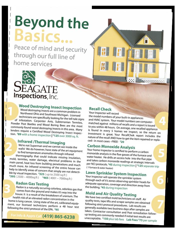 Que Sera Blog Beyond The Basics Seagate Inspections Flyer Handout Flyer Seagate Handouts