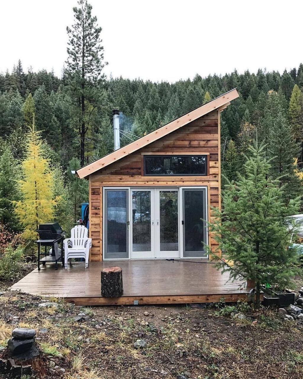 46 Stunning Tiny House Design Ideas Pimphomee Tiny House Cabin Tiny House Interior Design Small House