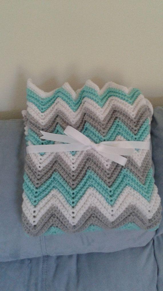 Baby,Crochet Baby Blanket,Baby Blanket,Crochet Chevron Baby Blanket ...