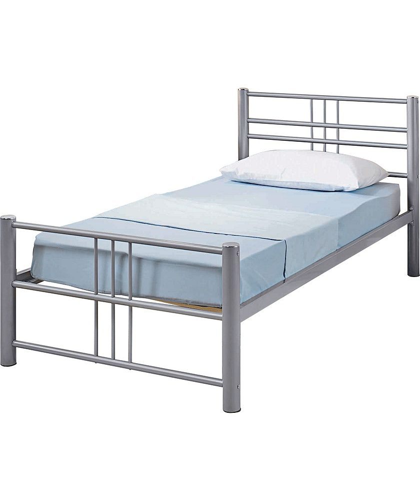 Buy Argos Home Atlas Single Metal Bed Frame Silver Bed Frames Single Metal Bed Bed Frame Single Metal Bed Frame