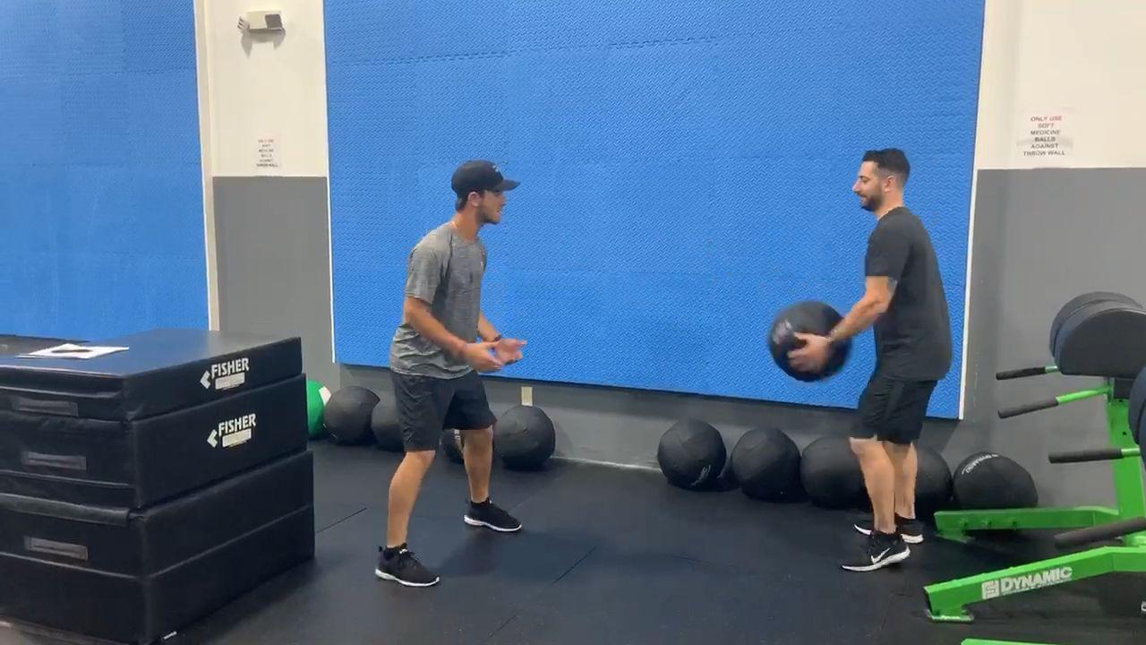 Baseball Strength Training|Partner Medball Throws| Train