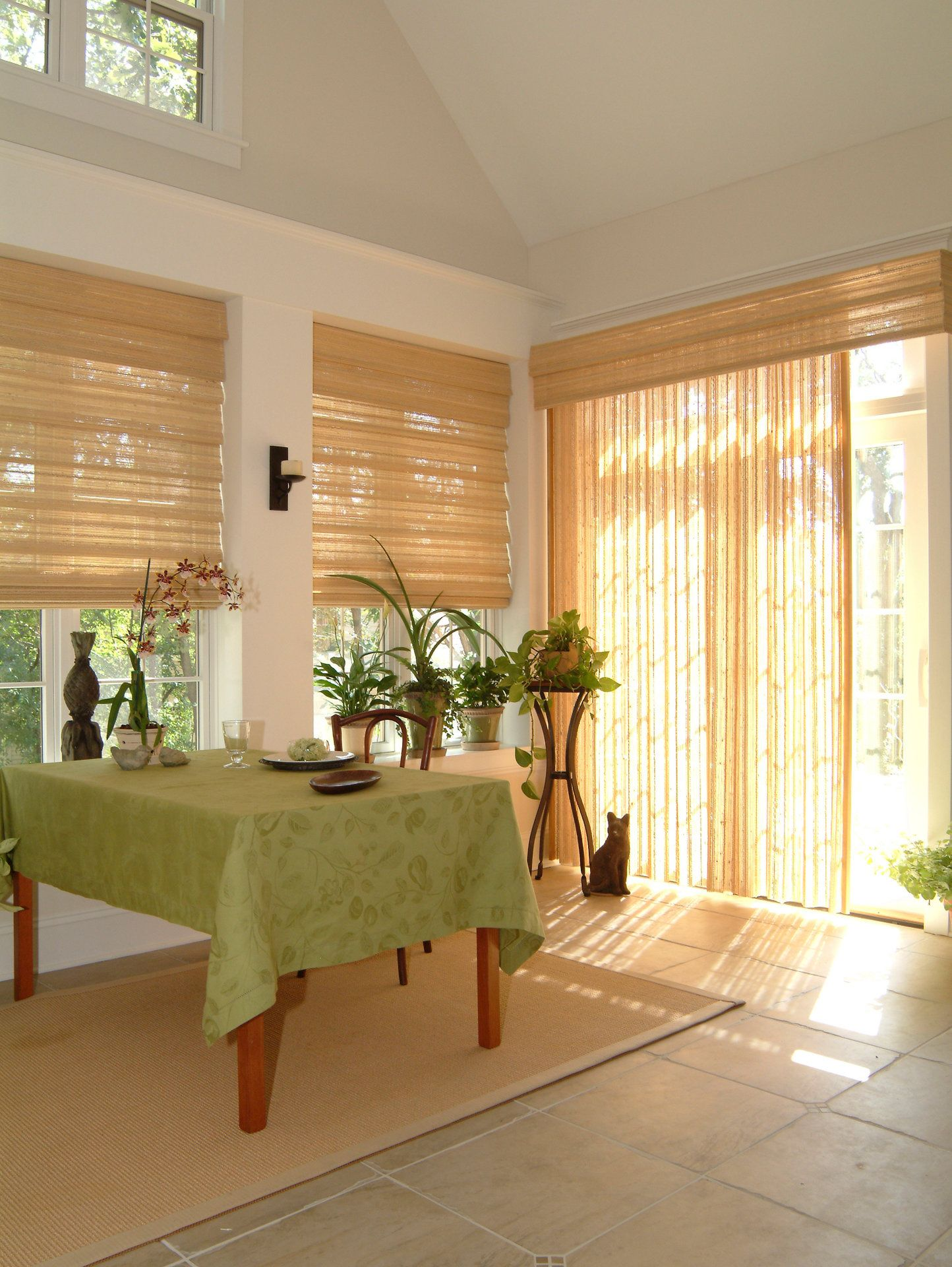 Bamboo Sliding Panel Track Blinds: Window Styles, Interior Windows