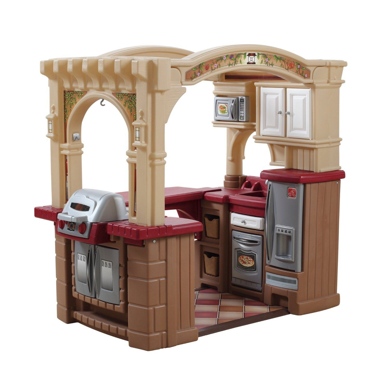 Big Step 2 Kitchen For Kids Two Kids Can Play In This Toy Kids Play Kitchen Play Kitchen Sets Pretend Play Kitchen