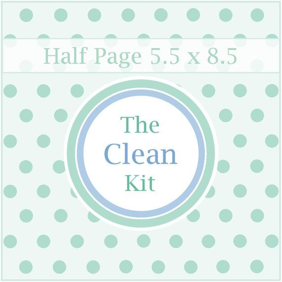 The CLEAN KIT, Printable Cleaning Schedule, Cleaning