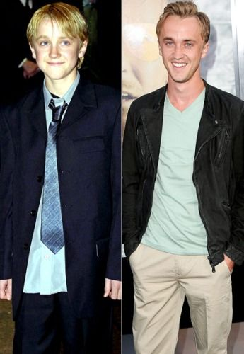 Draco. Before & After. | Tom felton, Harry potter, Harry ...