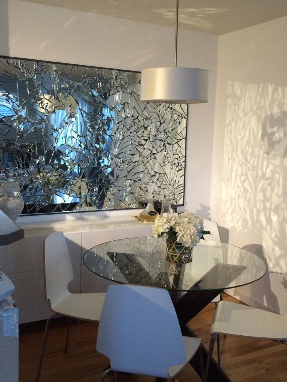 Hand made broken mirror wall art | Mirror | Pinterest | Walls ...