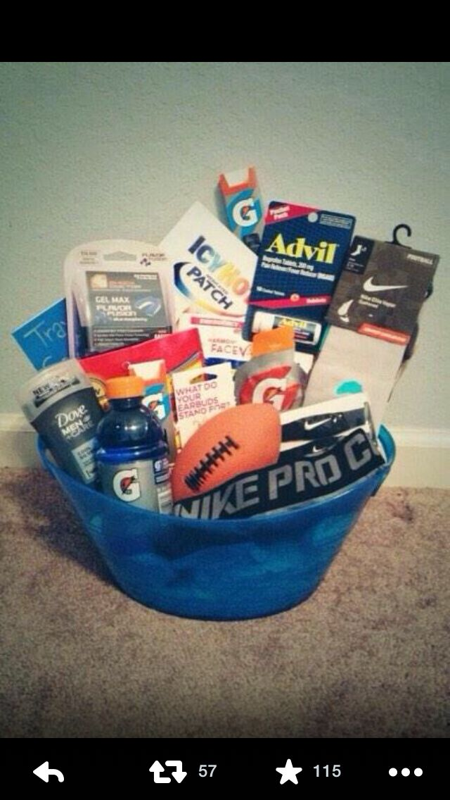Pin by zykieya on l o v e r s pinterest easter gift and cool gift basket for an athlete the christmas day is coming but you still dont know what to give to your colleagues children or relatives negle Images