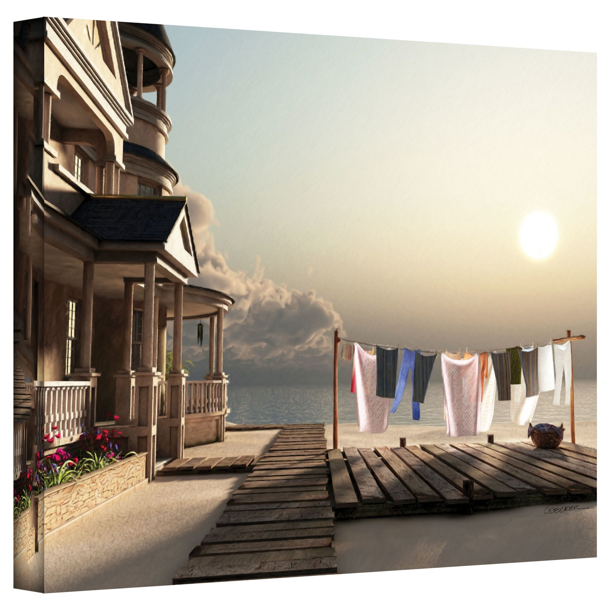 Laundry Day by Cynthia Decker Photographic Print on Canvas ...