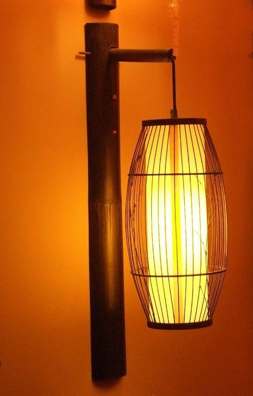 Handmade Wall Light Fixtures : Chinese style of handmade bamboo lamps lighting fixtures