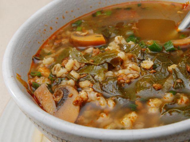 Chorizo and Barley Soup