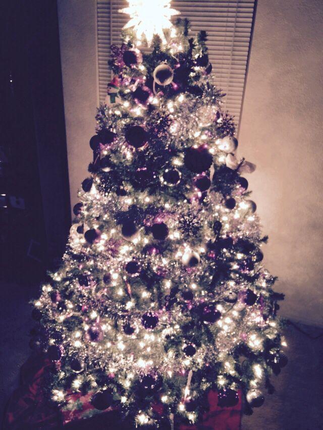 My purple Christmas tree
