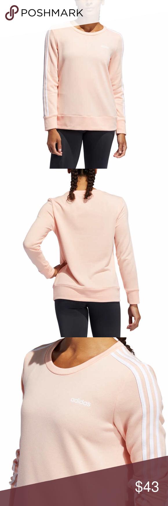 Adidas Women S Crewneck Sweatshirt Pink Womens Crewneck Adidas Women Crew Neck Sweatshirt [ 1740 x 580 Pixel ]
