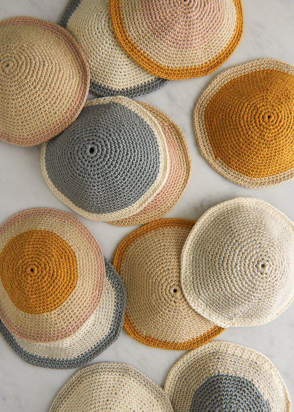 Crocheted Yarmulkes   Crochet   Pinterest