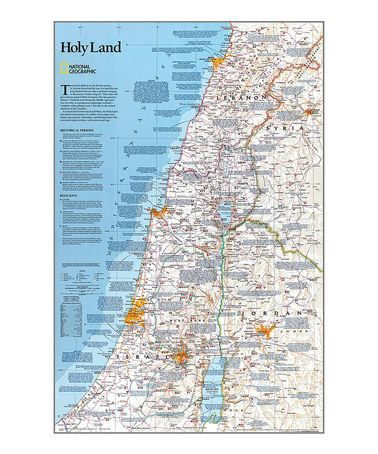 Holy Land Laminated Map National Geographic Maps Wall Maps Holy Land