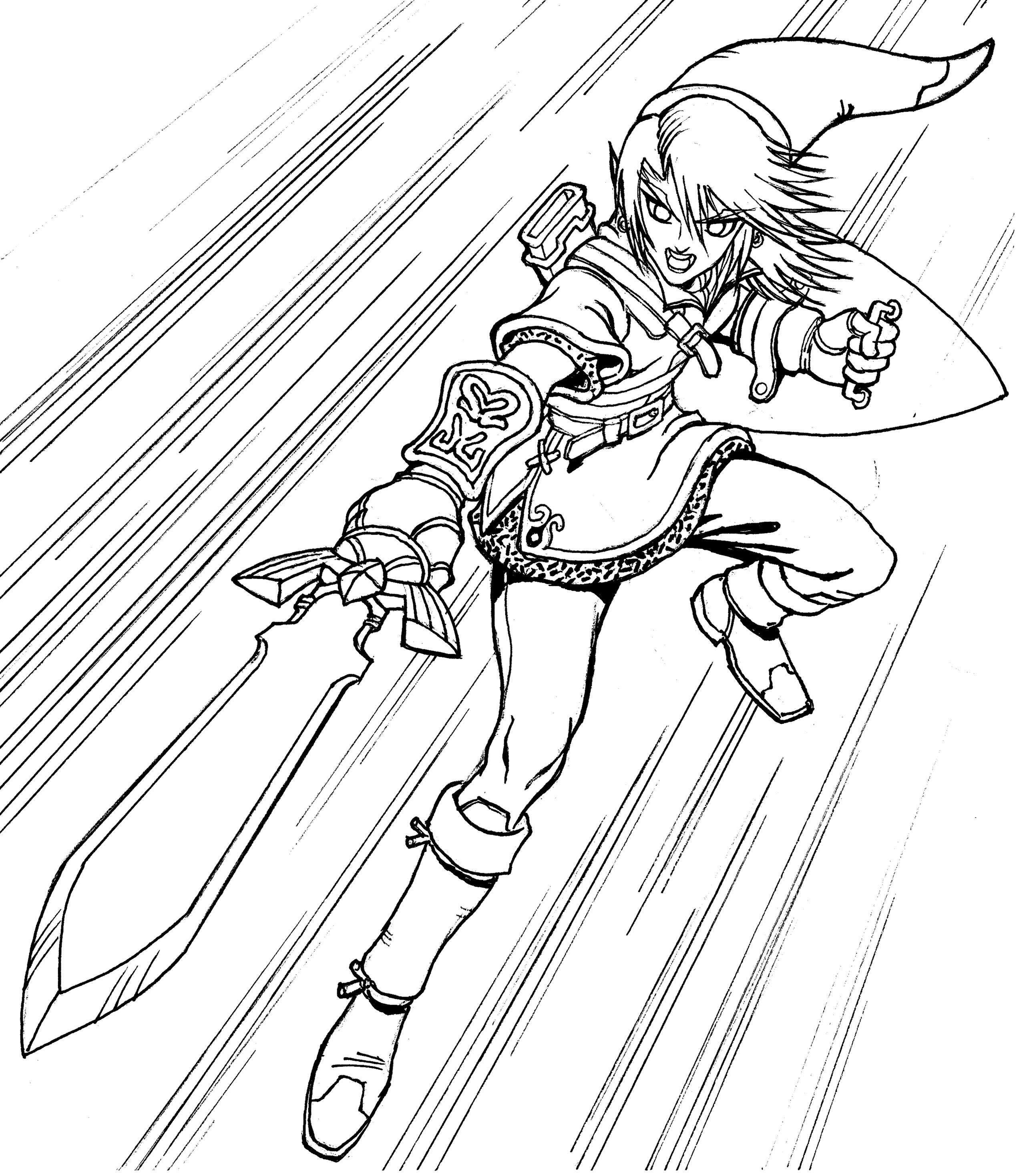 Link Coloring Pages Zelda Tips