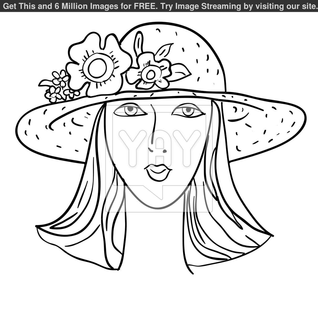hand-drawn-fashion-model--vector-illustration--woman-s-face-934ff0.jpg (1210×1210)