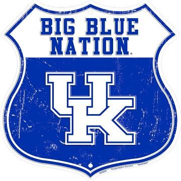 Kentucky Wildcats Big Blue Nation Metal Shield Sign Big Blue Nation Kentucky Wildcats Basketball Wallpaper Kentucky Wildcats Basketball